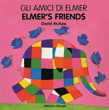 Gli Amici Di Elmer (bilingual: English & Italian) (board book)