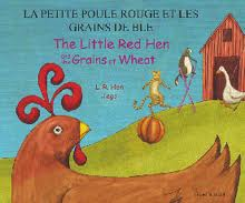 The Little Red Hen and the Grains of Wheat (Bilingual: Japanese/English) (Japanese edition)